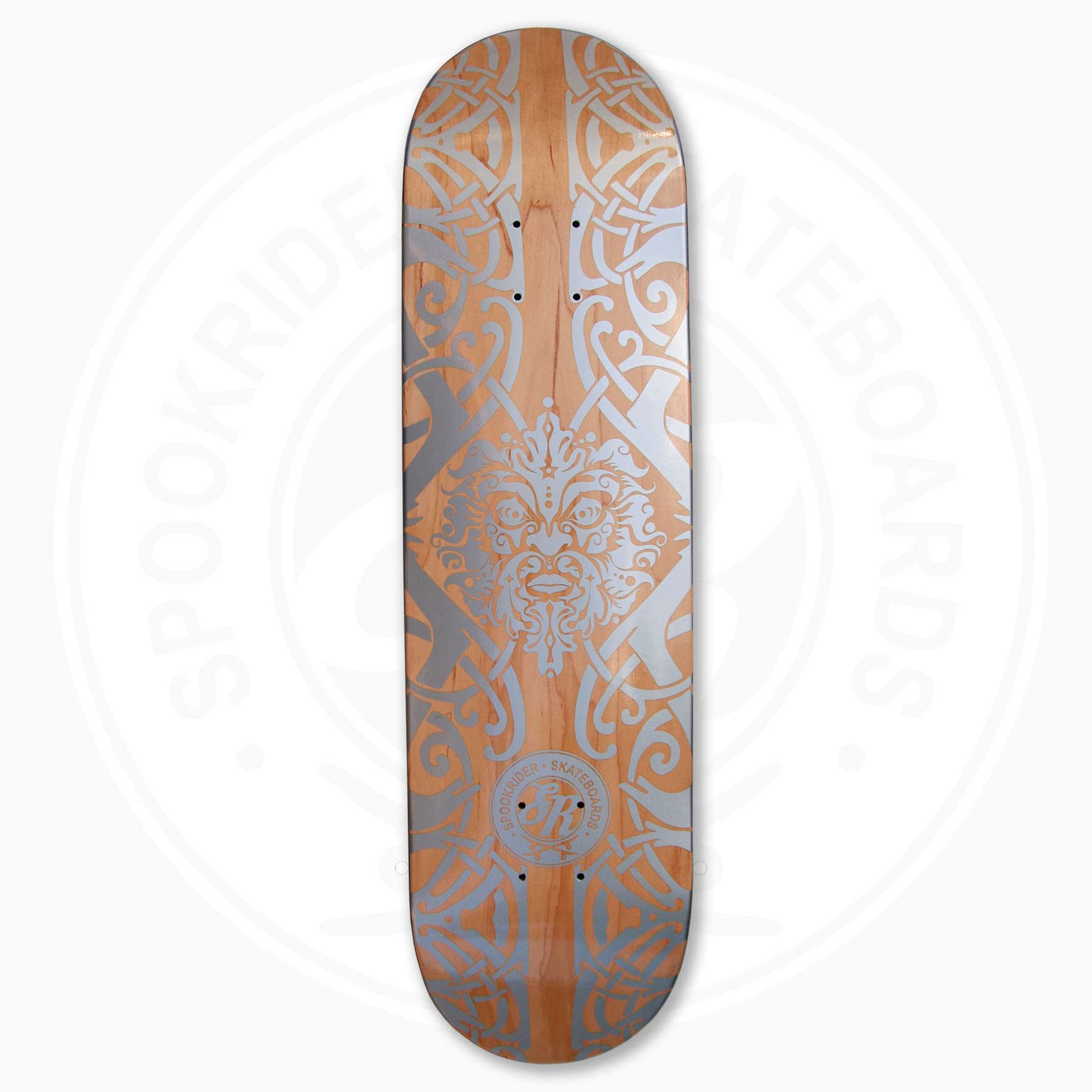 SpookRider GreenMan SilverWood board